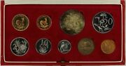 South Africa 1969 Long Proof Coin Set Km Ps75 Fdc