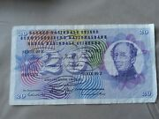 Switzerland 20 Franc Banknote 7th March 1973 Serie 89z