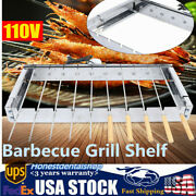 New Electric Grill Shelf Outdoor Cooking Barbecue Grill 110v Garden Camping Usa