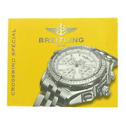 Breitling Authentic Crosswind Special Instruction Manual Booklet
