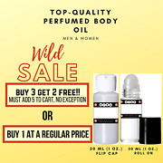 Best Selling Premium Quality Scented Perfumed Body Oil Fragrance Oil 30 Ml 1 Oz.