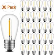 2700k Led S14 1w Dimmable Edison Bulb E26 Outdoor String Light Replacement 30pcs
