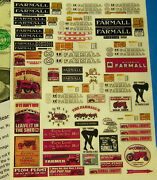 Ho 187 Train White Backside Waterslide Decals Building Signs Farmall Tractors