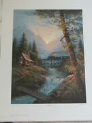 Jesse Barnes 1991 Signed And Numbered Le Print And Coa Daybreak 28 / 2800