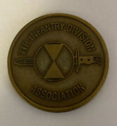 7th Infantry Division Association Wwiwwii Korea 1950-1971-ctlt80 3/32 Coin B2