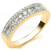 Certificated Diamond Eternity Ring 18k Yellow Gold Anniversary Band Size R - Z