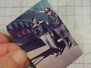 Orig Rare Wwii Color Photo Wwii Flying Tiger 23rd Ftr Triple Ace In A2 W/ P-51