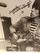 Autographed Keith Richards 11x14 Bandw Photo....beckett Full Letter