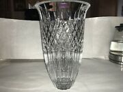 Marquis Shelton By Waterford Crystal Vase Made In Germany 12 Tall 71/2 On Lip