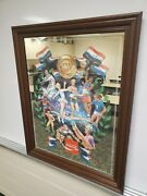 Extremely Rare 1970's Olympic Coca-cola Bar Tavern Mirror Advertisement