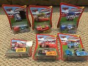 6 Disney Cars - Lot Easy Idle Pitty, Dinoco Pitty, Guido, 2 Mcqueens, Dale Jr