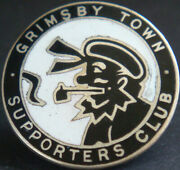 Grimsby Town Fc Vintage Supporters Club Badge Maker Fattorini And Sons Brooch Pin