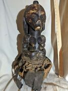 Naked Woman Sitting In Basket Andmdash Great Detail Andmdash Authentic Carved African Wood Art
