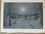 Jesse Barnes Signed And Numbered Print And Coa Starlight In December  1031/2000
