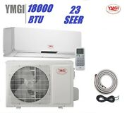 Ymgi 18000 Btu 1.5 Ton 23 Seer Ductless Mini Split Air Conditioner Pre-charged