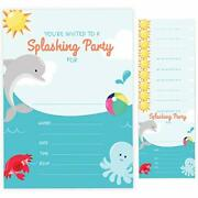 Dolphin Style 3 Birthday Invitations Cards With Envelopes 10ct