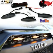 2day Air 2014+ 4runner Smoke Drl Wire+screw On 3pcs Wider Raptor Led Grill Light