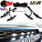 2day Air Drl Wire + Snap On 4pcs Raptor White Led Grill Light For 2014+ 4runner
