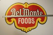 Del Monte Advertising Poster Die Cut Red Yellow Logo N1l Sign 26 Wide 21 High