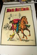 Fiesta Del Monte Advertising Poster Pstr-9 Sign Horse And Rider 35x25