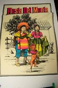 Fiesta Del Monte Advertising Poster Pstr-11 Kids With Chihuahua 35x25