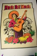 Fiesta Del Monte Advertising Poster Pstr-16 Mariachi Band 35x25