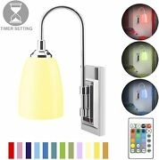 Wall Lamp Battery Operated Led Wall Sconce Indoor Light Remote Controlled