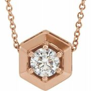 Lab-grown Diamond Geometric 16-18 Necklace In 14k Rose Gold 1/2 Ct. Tw.