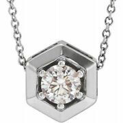 Lab-grown Diamond Geometric 16-18 Necklace In 14k White Gold 1/2 Ct. Tw.