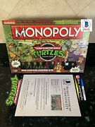 Kevin Eastman Signed Tmnt Cast Signed Monopoly Tmnt Signed Beckett Bas Coa 1