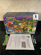 Kevin Eastman Signed Tmnt Cast Signed Tmnt Wagon Box Only Bas Coa