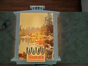 Rare Vintage Hamm's Beer Land Sky Blue Waters Large Plastic Wall Display Sign