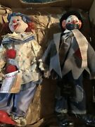 Vintage Porcelain Clowns 1 16 Heritage Mint And 1 16 House Of Lloyd W/tags