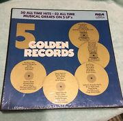Various 5 Golden Records - 50 All Time Hits Lp Sealed 5 Lp Box Oldies