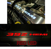 Polished Fuel Rail Covers W/ Red Led Inlay For 2011-2014 Srt8 6.4l 392 Engines