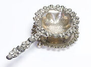 Udall And Ballou Antique Sterling Silver Tea Strainer And Stand