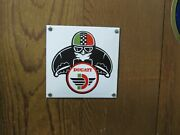 Vintage Ducati Door Push Sign Square 4 3/4 X 4 3/4 Unusual And Cool