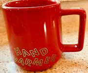 Nwt Starbucks 12 Oz Holiday Andlsquo19 Ceramic Red Hand Warmer Mug Limited Ed Sold Out