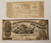 State Of Louisiana Notes - 1863 5 And 1864 50 Cents