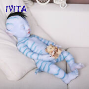 Popular 7.6kg Root Hair And Skeleton Avater Doll Silicone Reborn Baby Boys Doll