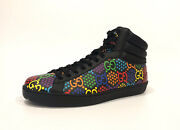 Gg Psychedelic Collection Men's High Top Sneaker -black Us Size 9.5 -new