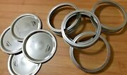 500 X Kerr Canning Jar Lid And Ring Set Wide Mouth Mason Ball Jars New Silver