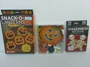 3 Boxes New Halloween Metal Plastic Cookie Cutters Stamps Fred Randm Brands