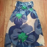 Lily Pulitzer Strapless White And Blue Floral Pull-on Dress Xs