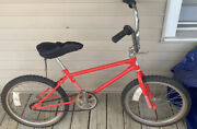 Vintage Columbia Freestyle Old School Bmx Bike Stunt Racing Frame 70s 80s Red