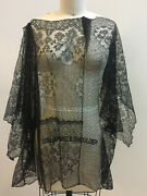 Antique Vintage Black French Lace Blouse Sold As-is Clothing/costume