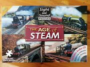 The Age Of Steam - Sight And Sound Puzzles 4x 250 Pieces - Includes Cd - 4 Trains