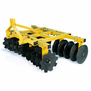 New Tarter Farm And Ranch 3-point 7and039 Heavy-duty Tillage Disc 18 Blades-yellow
