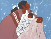 Katalin Ehling Pueblo Lullaby Original Stone Limited Edition Lithograph 1980