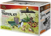 Tropical Reptile Terrarium Starter Kit With Light And Heat, 10-gal, Snakes, Frog